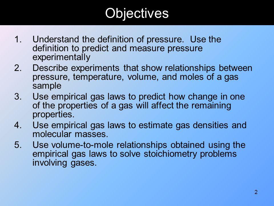 53 Ideal Gas Law PV = nRT Gas Constant R = 0.082057 (L atm)/(mol K)