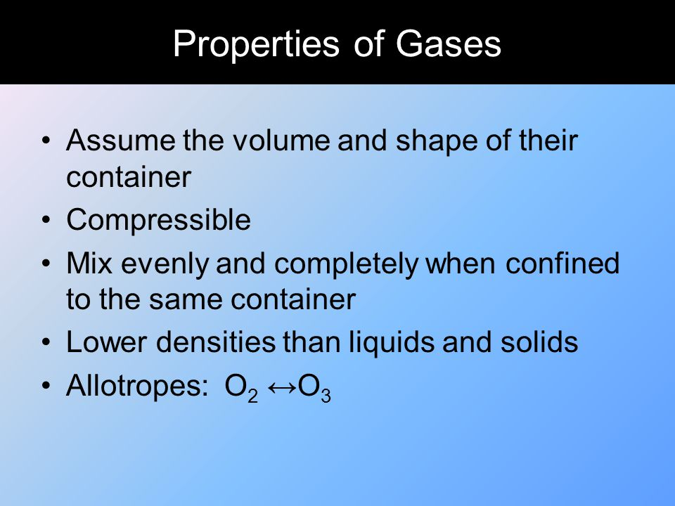 Charles' Law The volume of the gas is directly proportional to its Kelvin temperature, when everything else is constant.