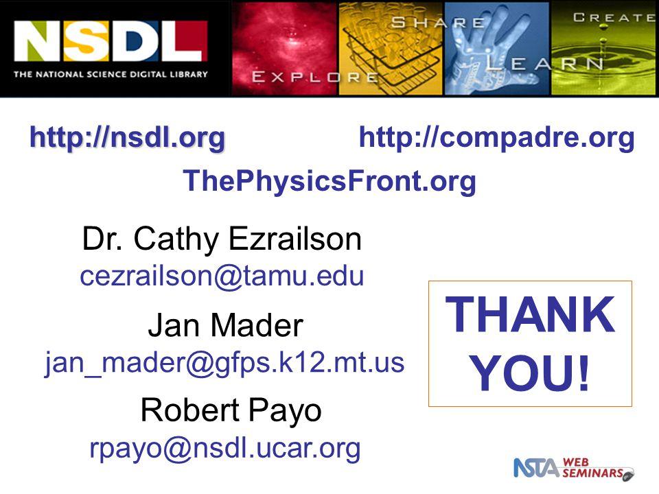 http://nsdl.org THANK YOU. Dr.