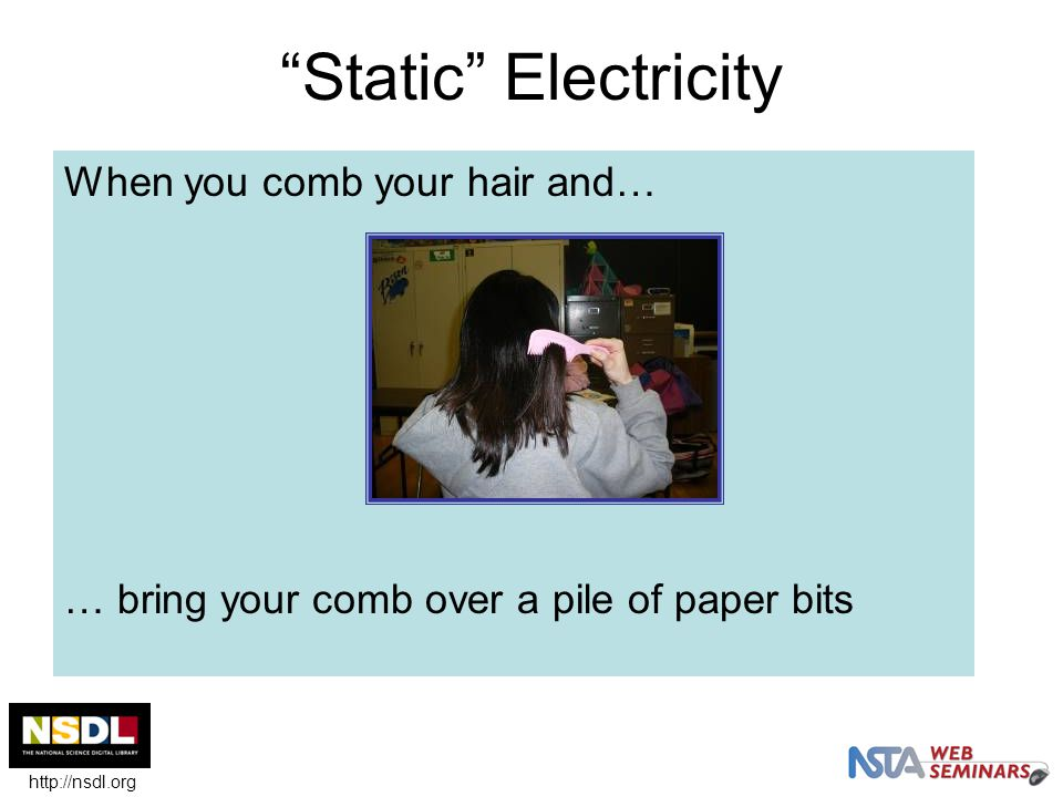 Static Electricity What will happen? Stamp your answer A. B. http://nsdl.org