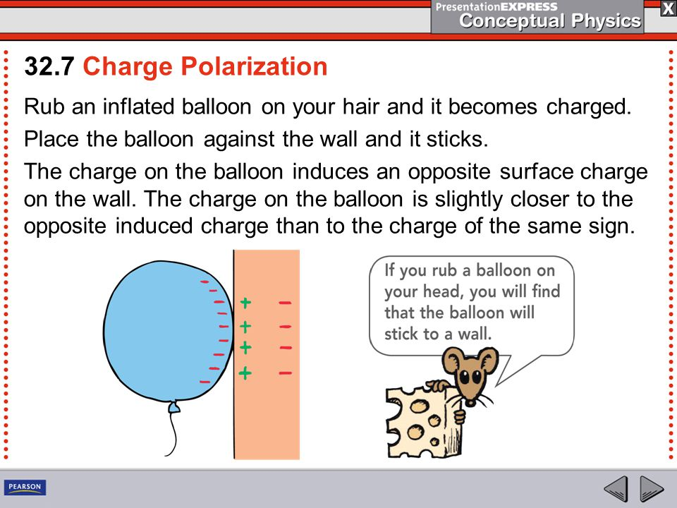 Rub an inflated balloon on your hair and it becomes charged.