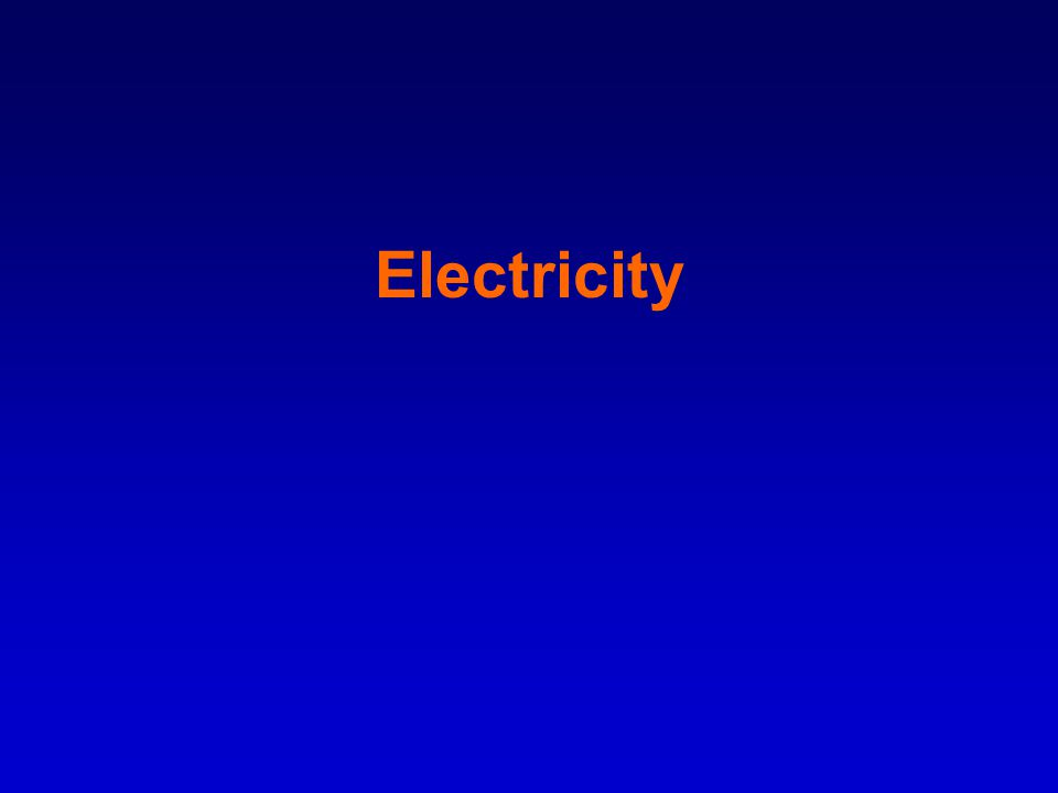 Introduction: –Electric current means a flow of charge in the same way that a water current flows.