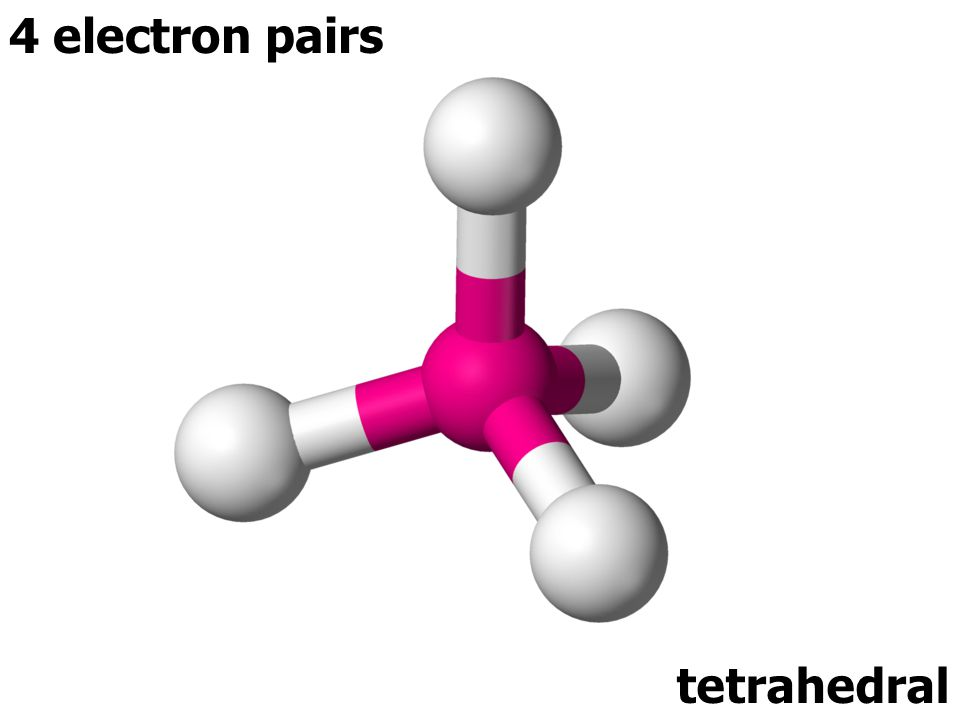 4 electron pairs tetrahedral