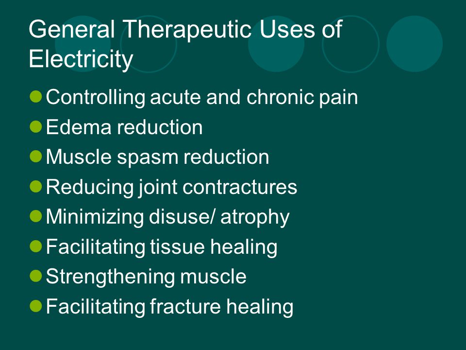 Clinical application of Electricity: Temperature Relationship  An increase in temperature increases resistance to current flow Applicability  Preheating the tx area may increase the comfort of the tx but also increases resistance and need for higher output intensities