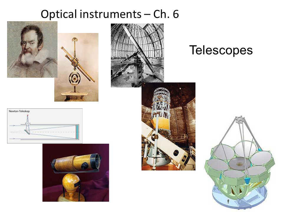 12 Optical instruments – Ch. 6 Telescopes
