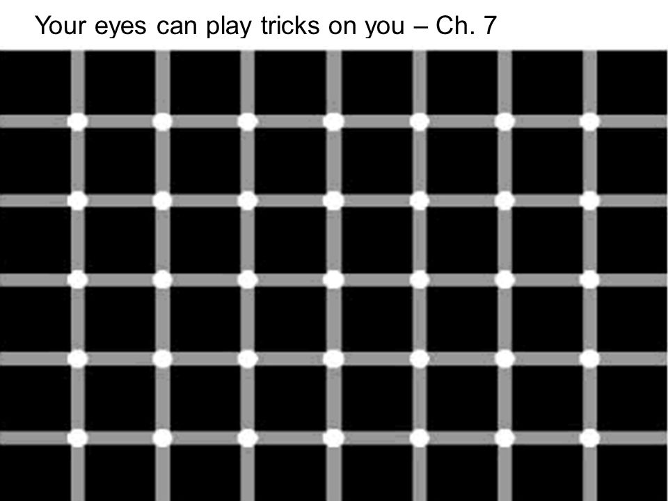 15 Your eyes can play tricks on you – Ch. 7