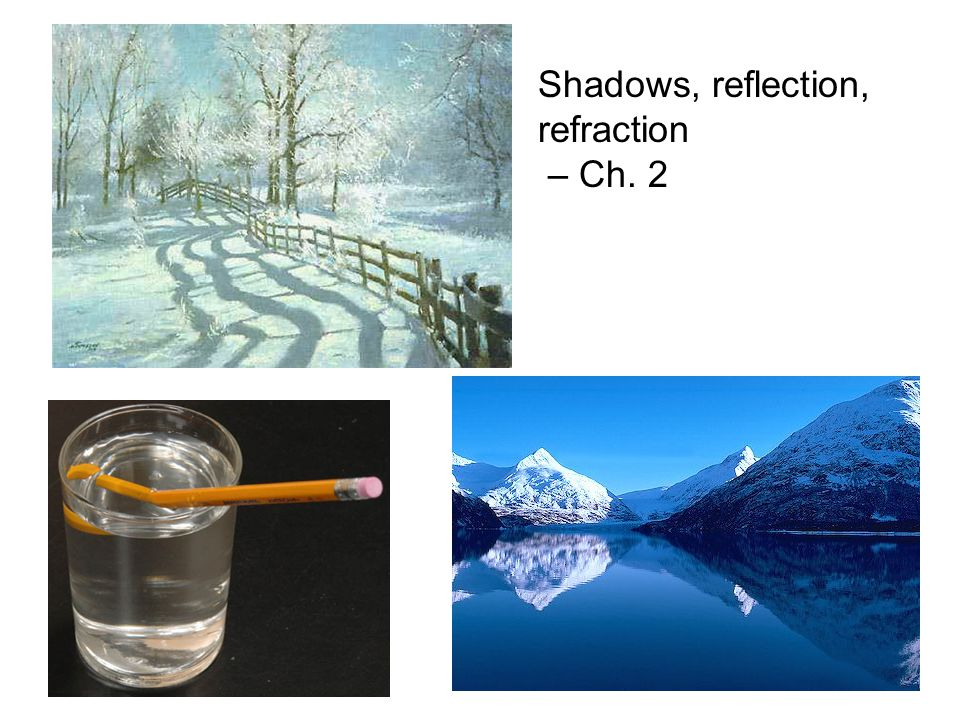 7 Shadows, reflection, refraction – Ch. 2