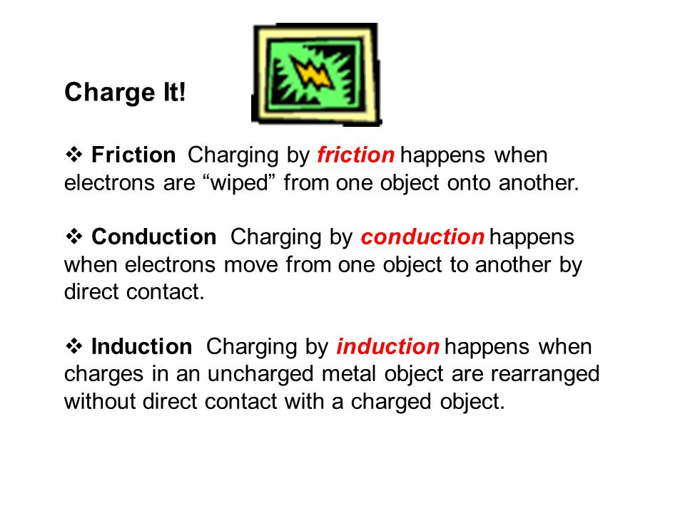 Electric Charge and Static Electricity Charge It.