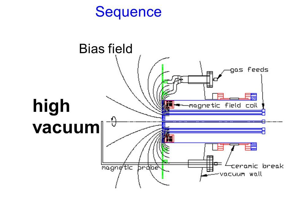 Sequence high vacuum Bias field