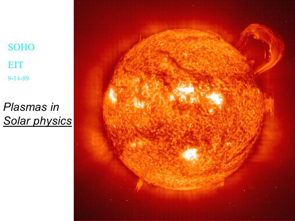 SOHO EIT 9-14-99 Plasmas in Solar physics