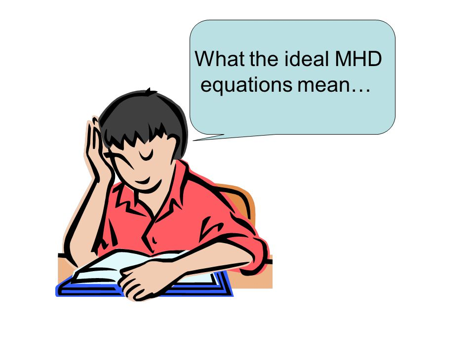 What the ideal MHD equations mean…