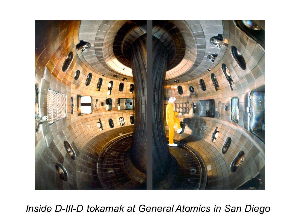 Inside D-III-D tokamak at General Atomics in San Diego