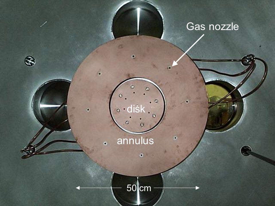 Gas nozzle 50 cm disk annulus