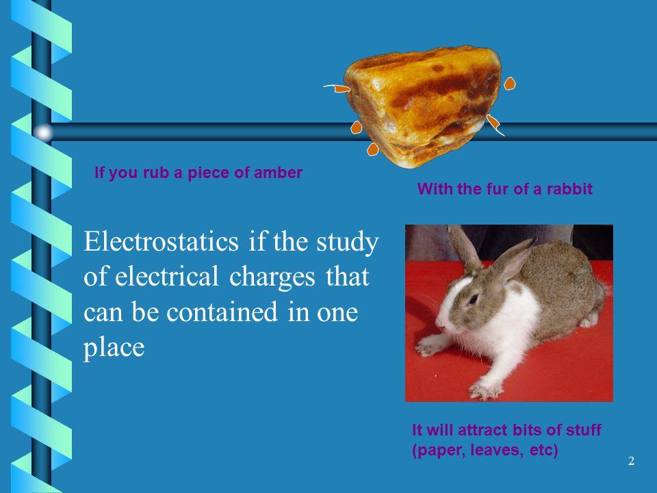 1 ELECTRICITY I Statics
