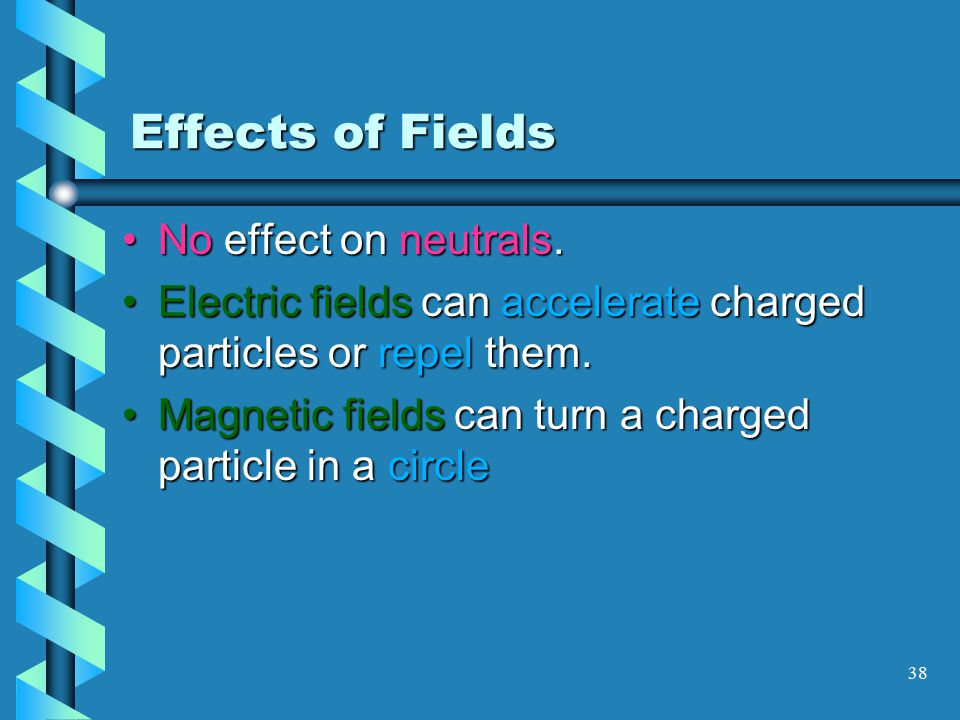 37 Electric Field A positive test charge experiences a force directed away from the central charge + + As the charge is moved closer to the central charge the force increases in magnitude + +