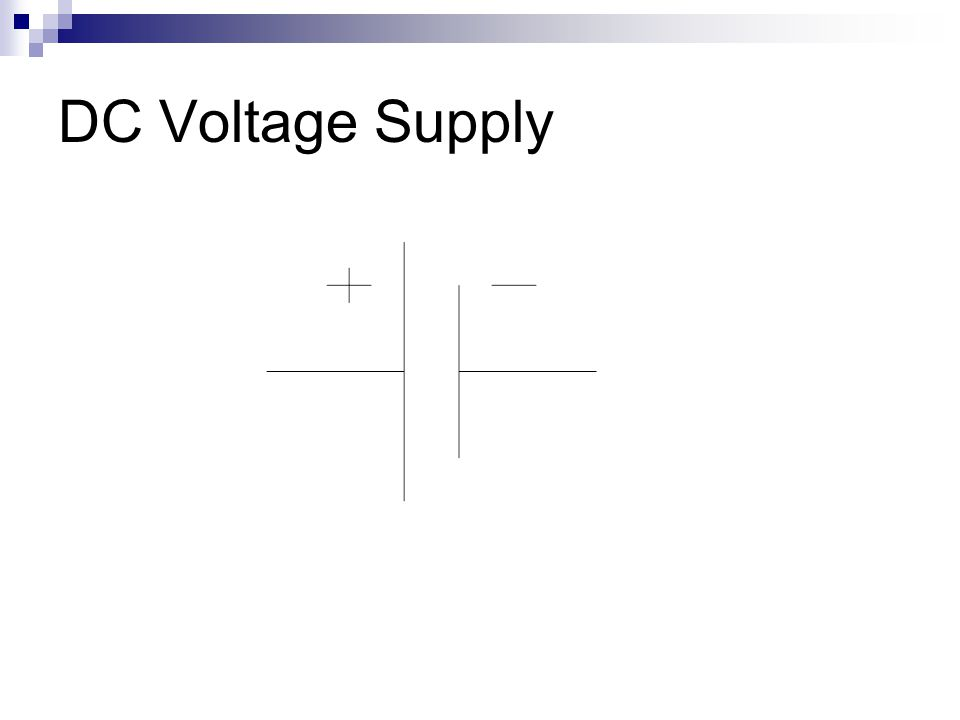 DC Voltage Supply