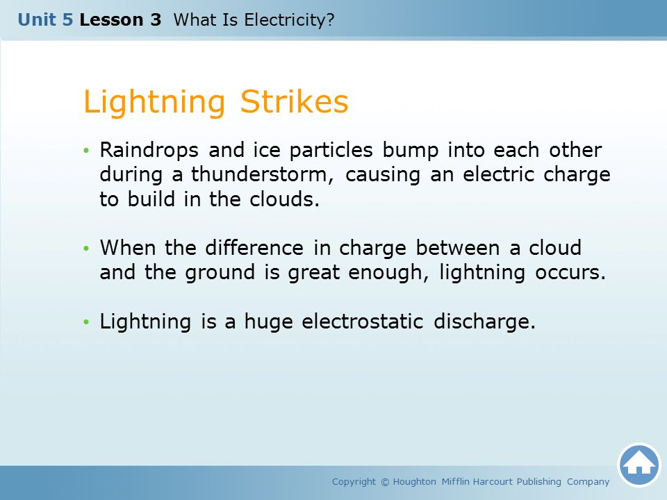 Unit 5 Lesson 3 What Is Electricity.