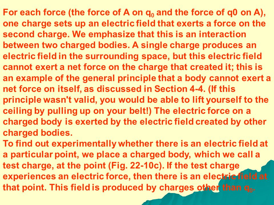 To elaborate how this two-stage process occurs, we first consider body A by itself: We remove body B and label its former position's point P (Fig. 22-