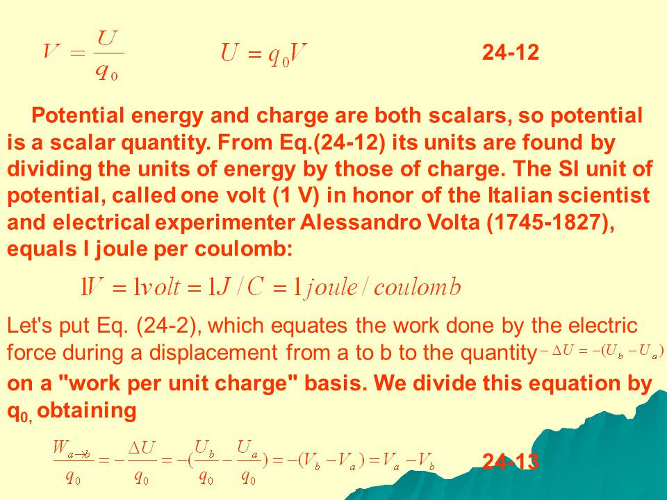 for any static electric field.