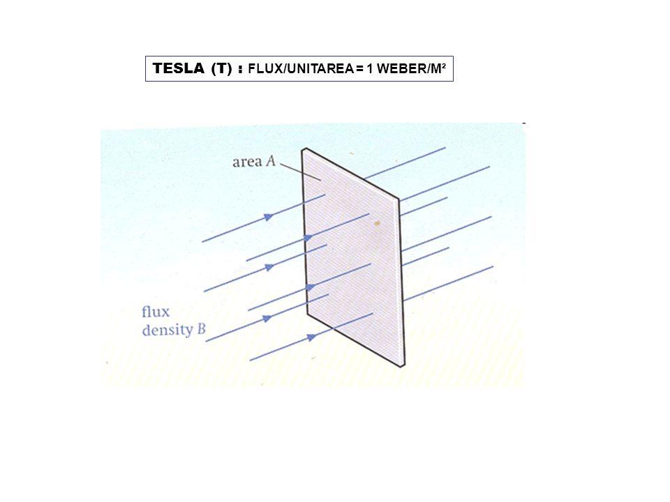 TESLA (T) : FLUX/UNITAREA = 1 WEBER/M²