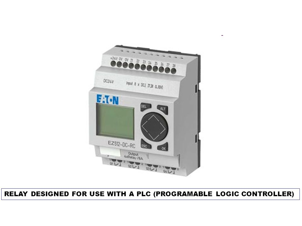 RELAY DESIGNED FOR USE WITH A PLC (PROGRAMABLE LOGIC CONTROLLER)
