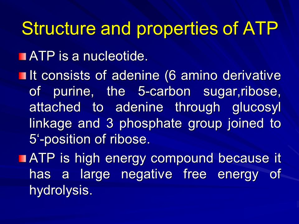 Factors affecting free energy of ATP hydrolysis This value (-7.3 Kcal) does not represent the real free energy of hydrolysis of ATP in the intact cells (i.e (cellular ATP).