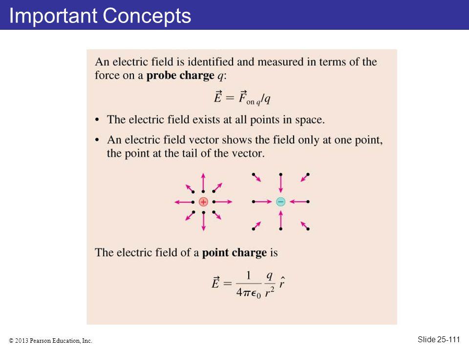 © 2013 Pearson Education, Inc. Important Concepts Slide 25-111