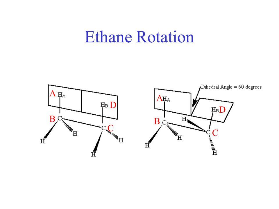 Ethane Rotation A C B D A B C D