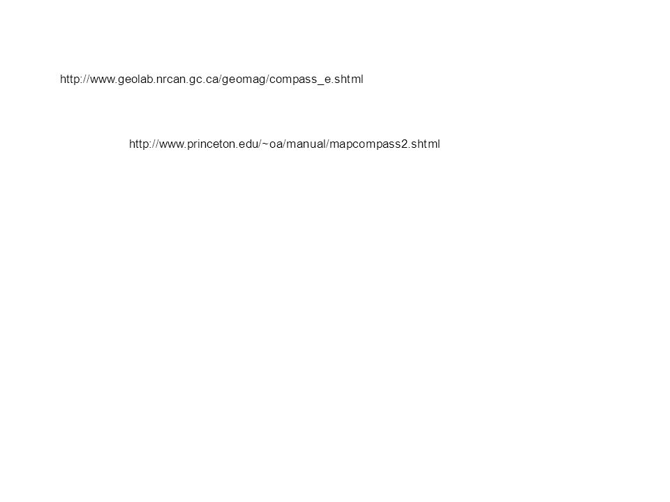 http://www.geolab.nrcan.gc.ca/geomag/compass_e.shtml http://www.princeton.edu/~oa/manual/mapcompass2.shtml