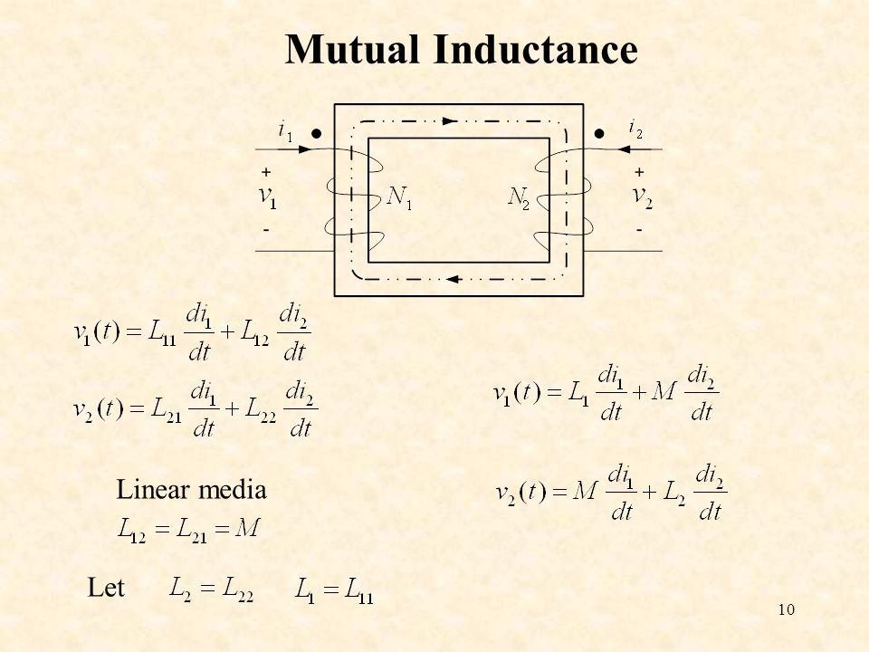 10 Mutual Inductance Linear media Let