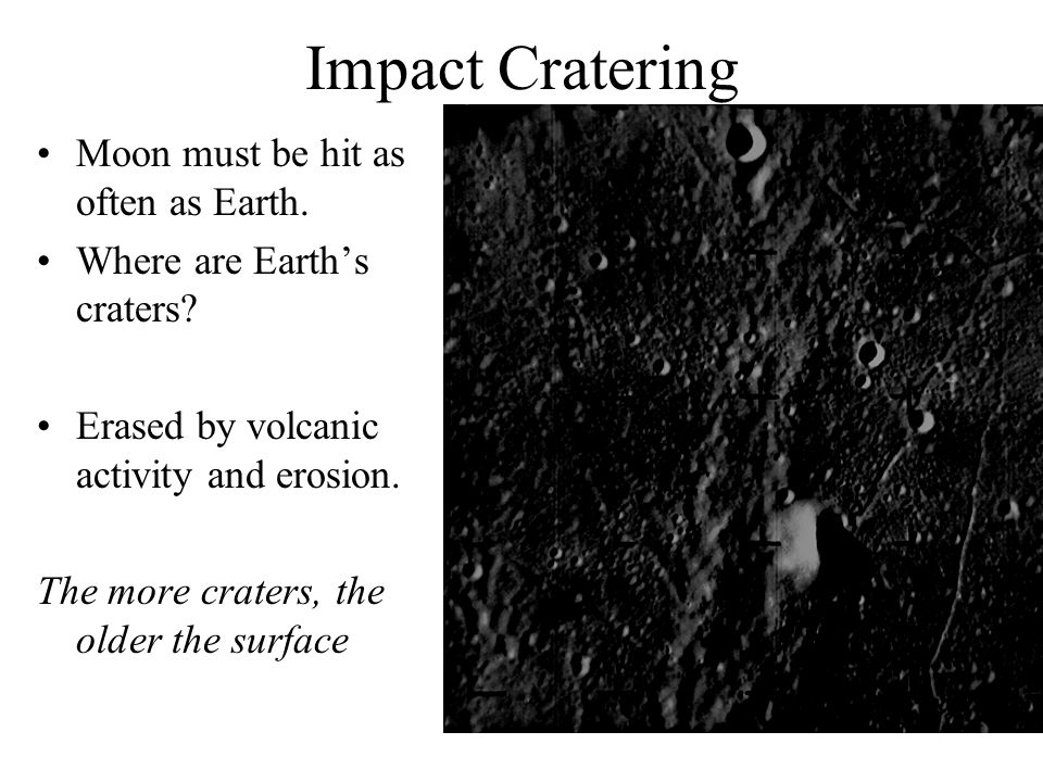 Moon must be hit as often as Earth. Where are Earth's craters.