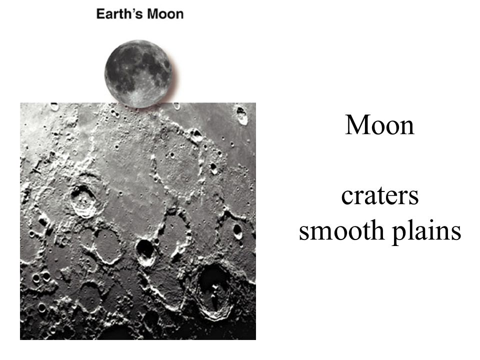Moon craters smooth plains