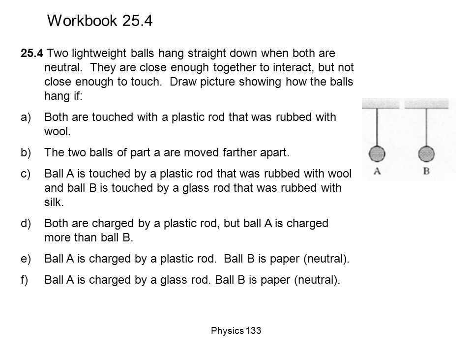 Physics 133 Hanging Charged Masses Construct a free-body diagram for the hanging charged object (it is not moving).