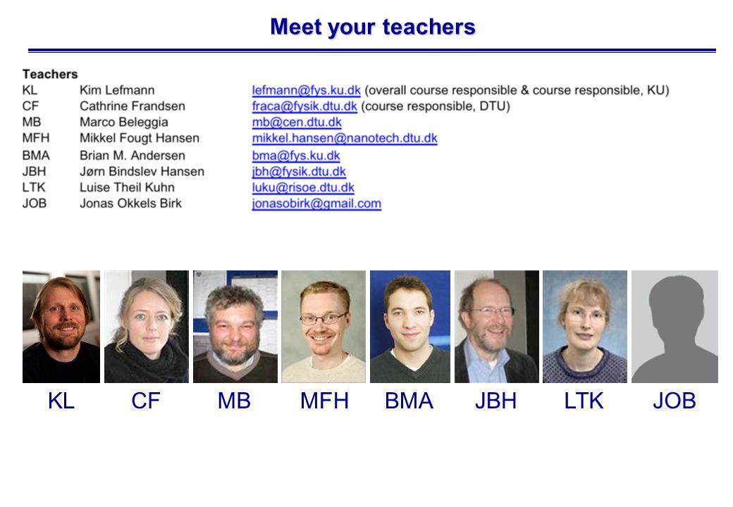 Meet your teachers KLCFMBMFHBMAJBHLTKJOB