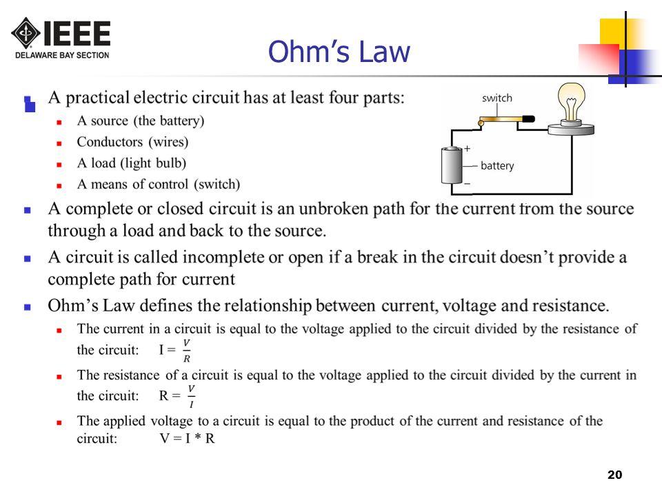 20 Ohm's Law