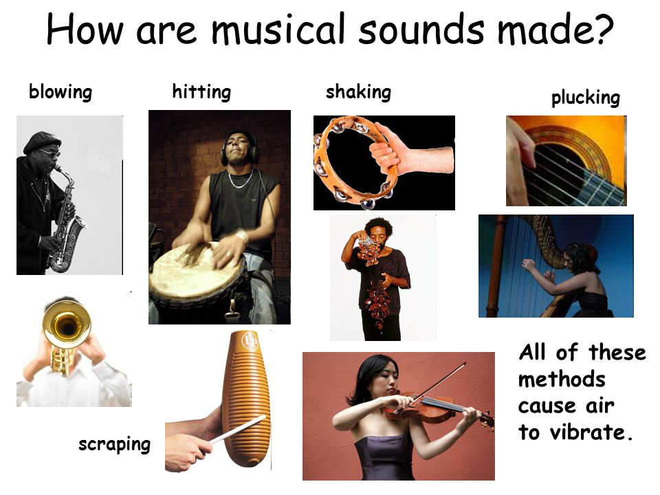 How are musical sounds made.