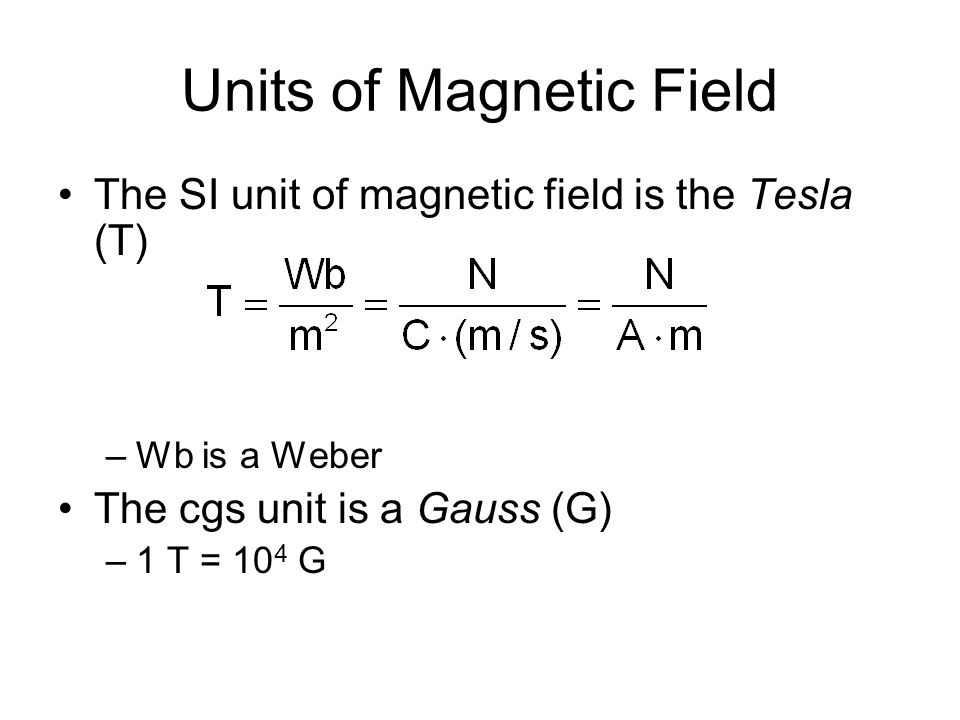 Finding the Direction of Magnetic Force Experiments show that the direction of the magnetic force is always perpendicular to both v and B F max occurs when v is perpendicular to B F = 0 when v is parallel to B