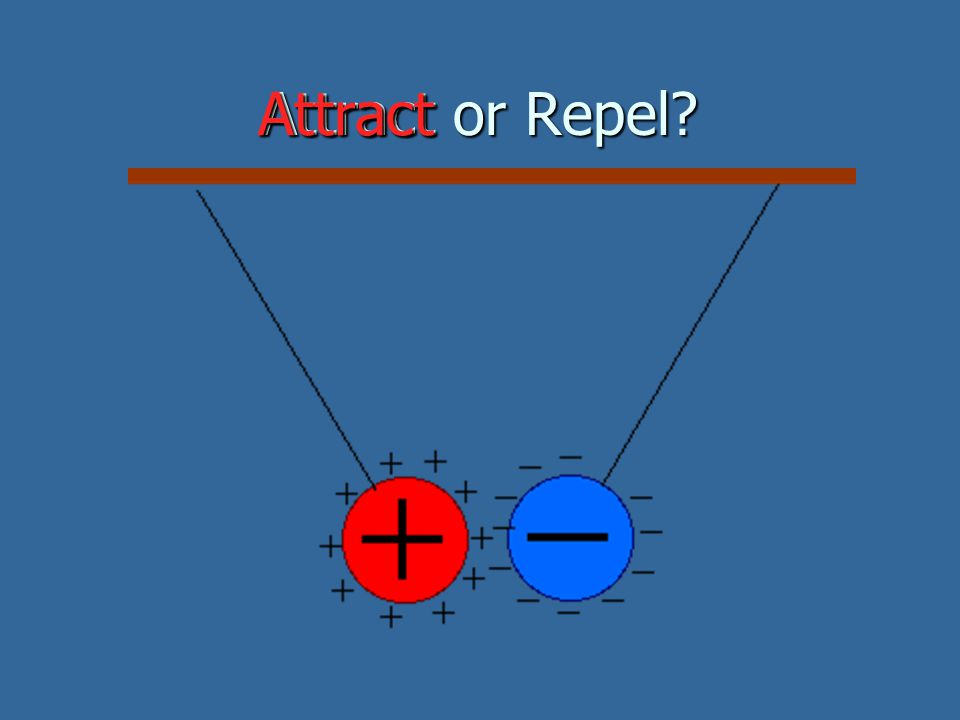 Attract or Repel? Attract