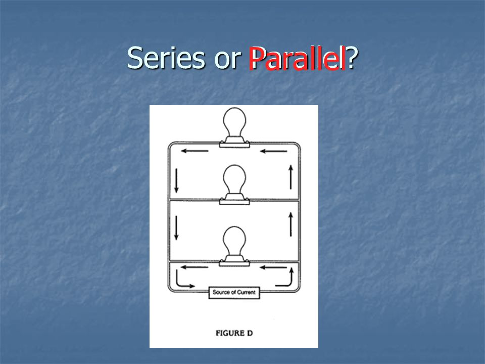 Series or Parallel? Parallel