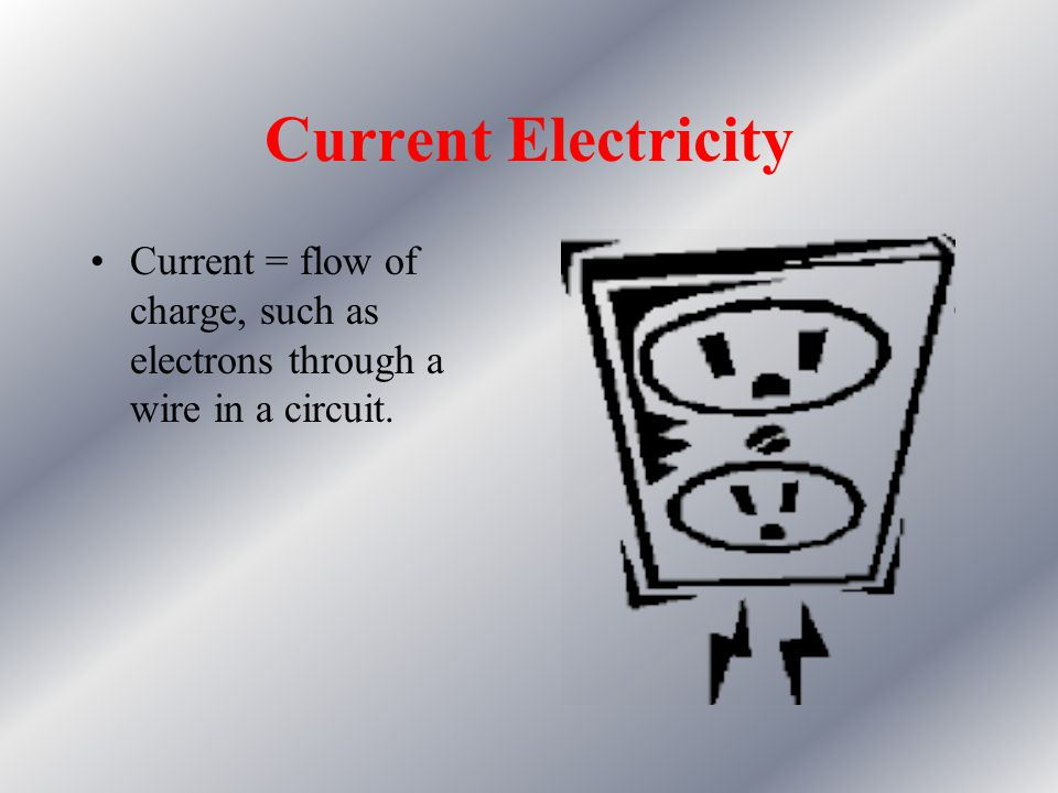 "What is electricity? The interaction between charged particles of matter. We discussed ""static"" electricity or charge imbalance – how about if charges"