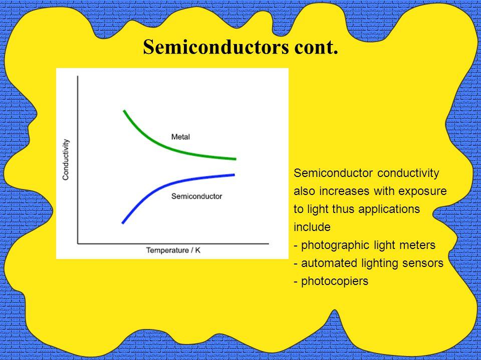Semiconductors cont.