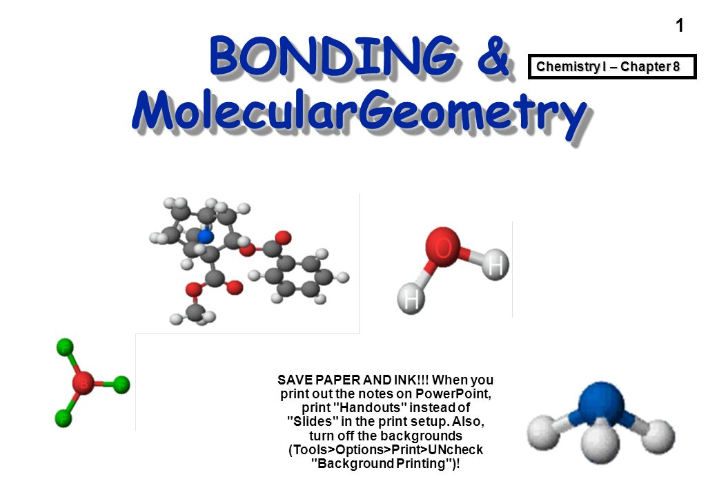 2 Bonding & Geometry Problems and questions — How is a molecule or polyatomic ion held together.