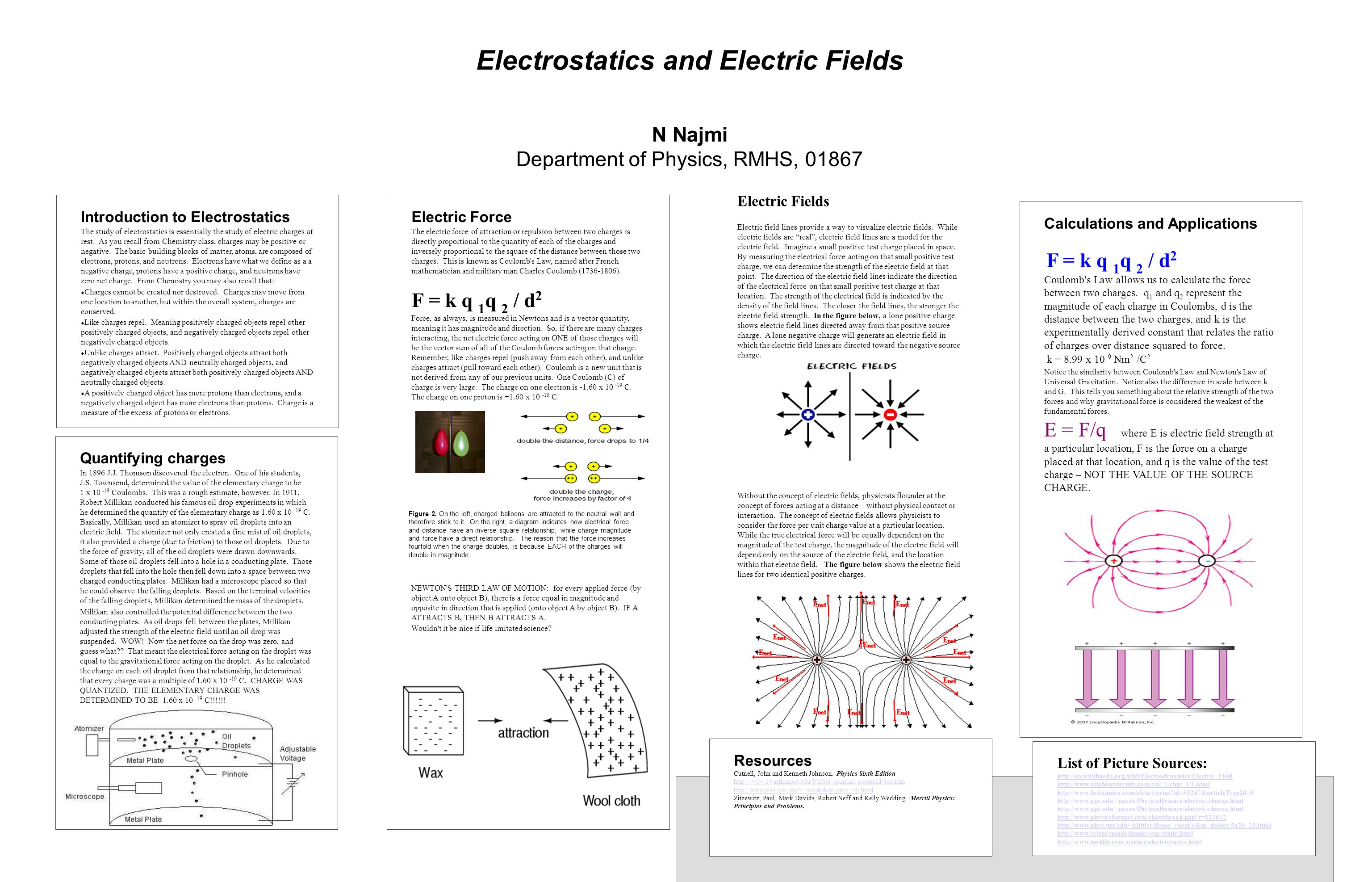 Introduction to Electrostatics The study of electrostatics is essentially the study of electric charges at rest.