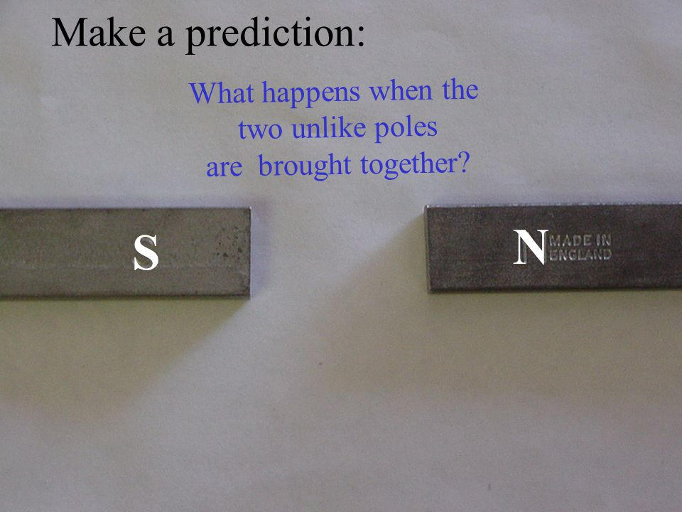 SS Make a prediction: What happens when the two LIKE poles are brought together?