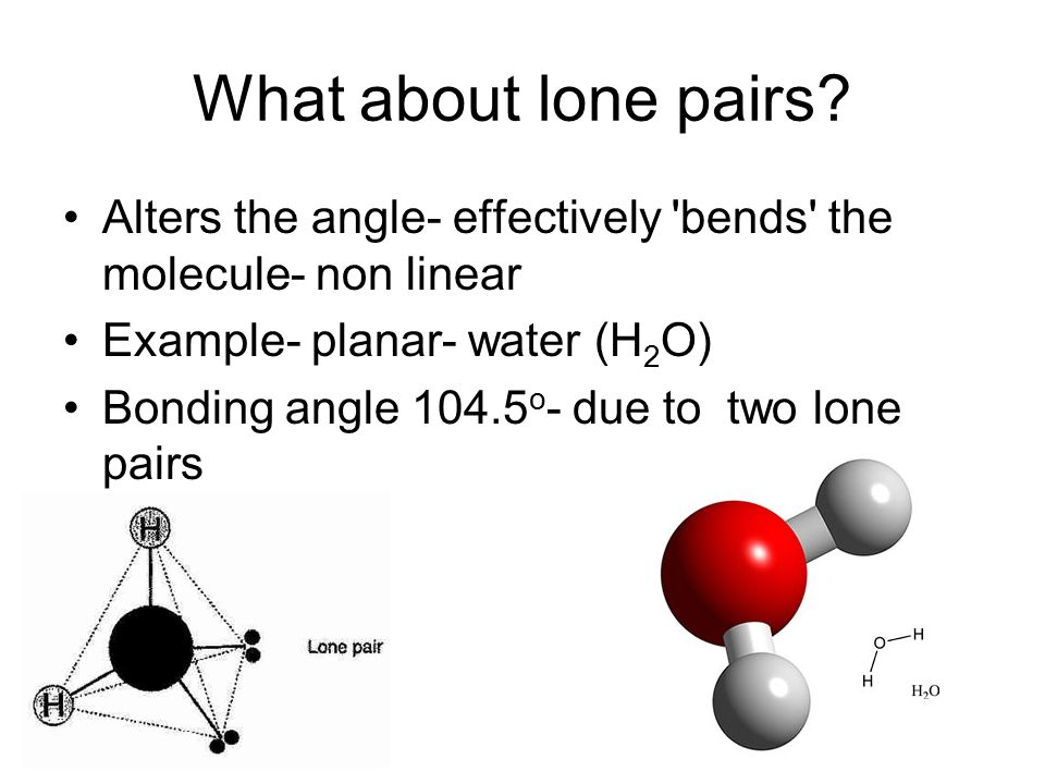 What about lone pairs.