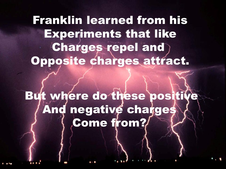 A very famous American That studied static electricity Was… Ben Franklin
