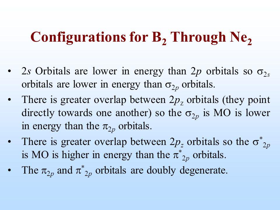 2s Orbitals are lower in energy than 2p orbitals so  2s orbitals are lower in energy than  2p orbitals. There is greater overlap between 2p z orbita