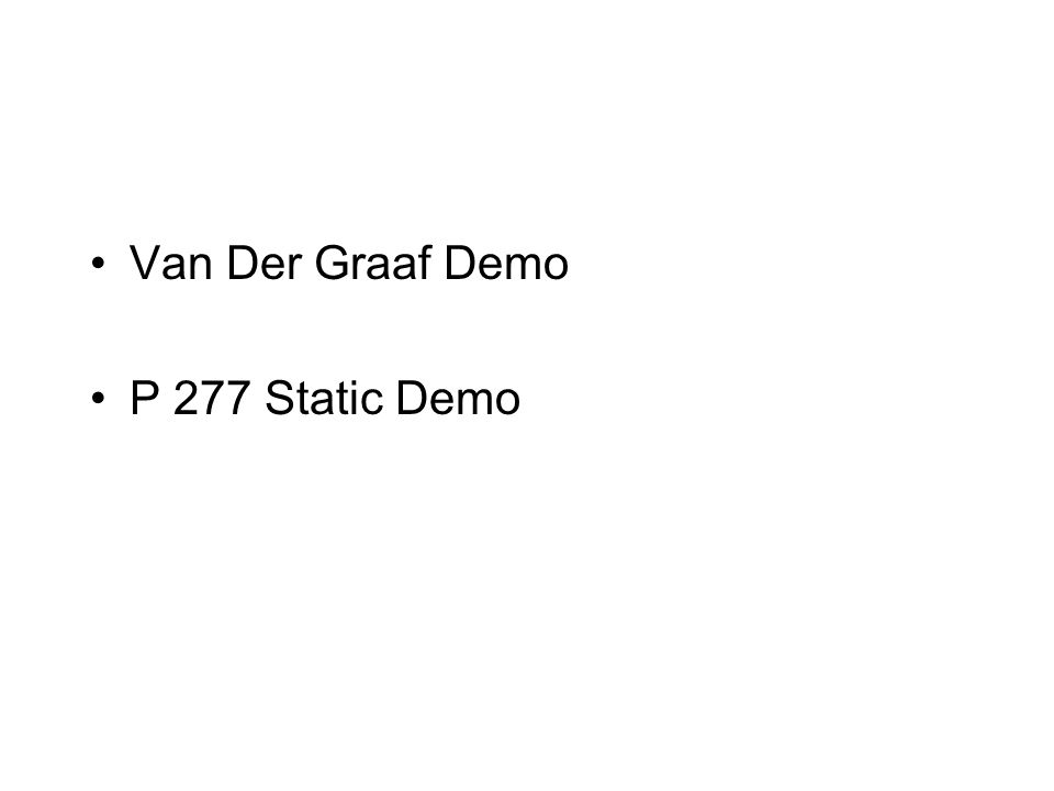Van Der Graaf Demo P 277 Static Demo