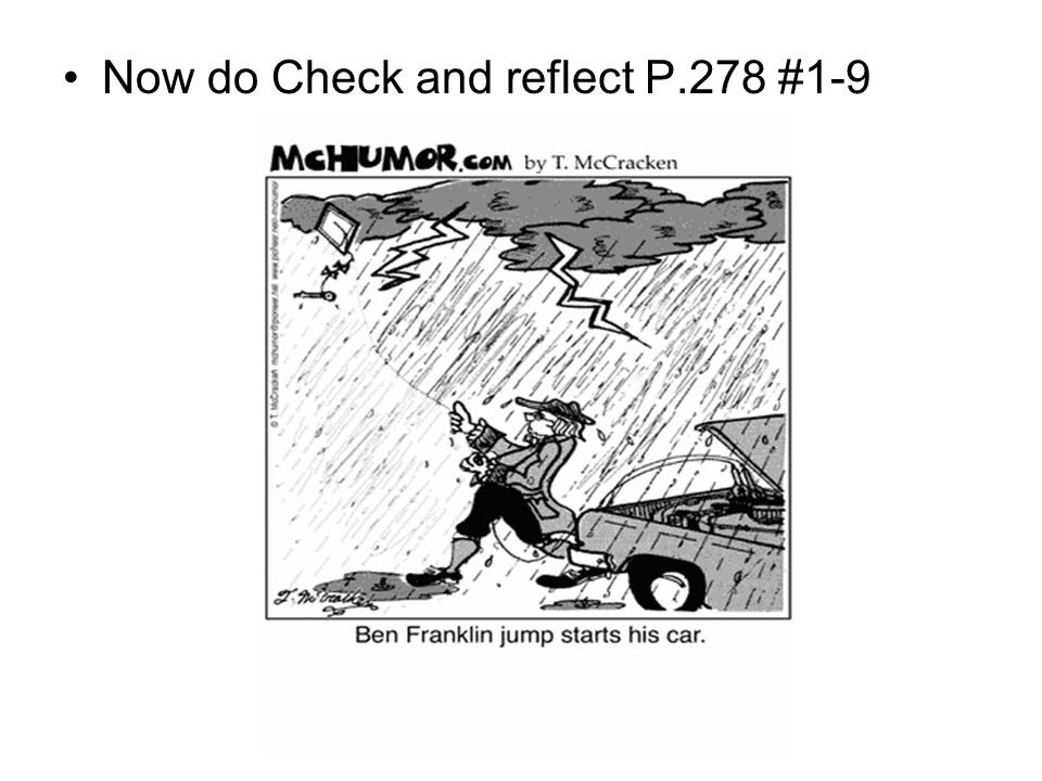 Now do Check and reflect P.278 #1-9