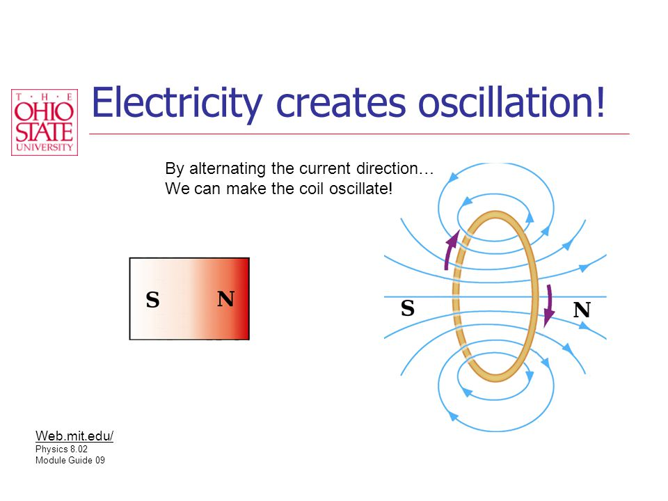Electricity creates oscillation.
